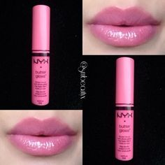 NYX Butter Gloss in Strawberry Parfait - I have an addiction to pink lipglosses and lipsticks....