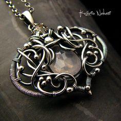 Naszyjnik Rose Dream - Kwarc Rose Srebro (sprzedawca: Nehesi Design), do kupienia w DecoBazaar.com