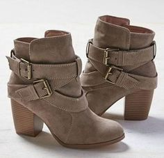 Winter Women Boots Ladies Casual Martin Boots Suede Leather Square High Heels Shoes Woman Ankle Snow Boots Plus Size Botas Mujer High Heels Boots, Chunky High Heels, Suede Boots, Leather Ankle Boots, Heeled Boots, Suede Leather, Ugg Boots, Boots Sale, Bootie Boots