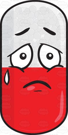 Sad Looking Medicinal Capsule Emoji #aid #capsule #care #carefor #container #dosage #dose #drink #drug #emoji #emoticon #encapsulate #facialexpression #facialgesture #gelatin #gellingagent #glycerin #hardcapsule #hardstarchcapsule #lonely #lozenge #medicalscience #medicament #medication #medicinaldrug #medicine #pellet #pharma #pharmaceutical #pharmaceuticalmanufacturer #pharmacy #pill #powder #prescribe #prescription #red #sad #softshell #sorbitol #sorrow #sorry #swallow #tablet #take #tear…