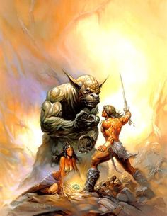 Conan The Valiant / Monstruos / 1989 (Ken Kelly)