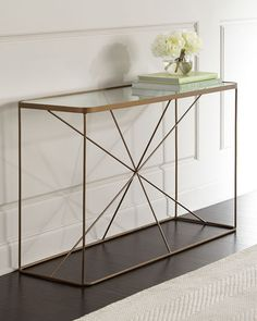 Shop Briggs Console at Horchow, where you'll find new lower shipping on hundreds of home furnishings and gifts. Metal Furniture, Furniture Decor, Furniture Design, Unique Furniture, Living Room Cabinets, Adjustable Shelving, Entryway Tables, Console Tables, Foyer