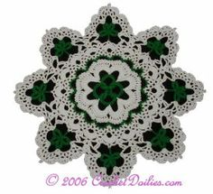 st patrick's day crochet patterns | crochet shamrock free pattern doily st patricks day crochet