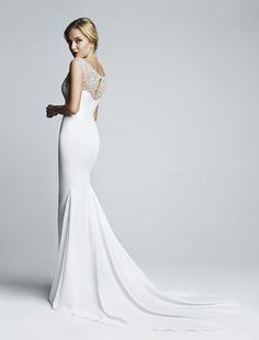 White embellished shoulder dress