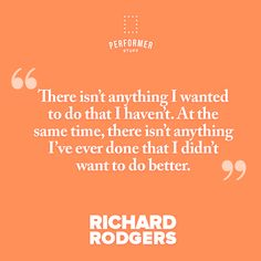 Richard Rodgers, Theatre Quotes, Movie Posters, Movies, Films, Film Poster, Cinema, Movie, Film