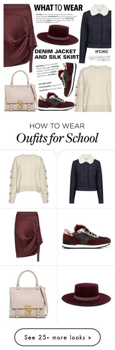 """""""What to wear: DENIM JACKETS AND SILK SKIRTS"""" by ifchic on Polyvore featuring Public School, Paul & Joe Sister, Nili Lotan, Pollini, 10 Crosby Derek Lam, Janessa Leone and contemporary"""