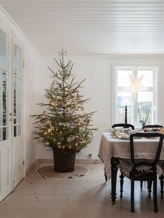 Having a simple Christmas Tree like this would be a dream someday.  Made In Persbo