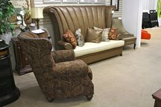 A.R.T. Lounge Chair & Aico/Michael Amini Janson Sleeper Settee - Colleen's Classic Consignment, Las Vegas, NV - www.cccfurnishings.com