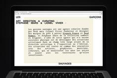 My name is — direction artistique & design graphique - Les Garçons sauvages
