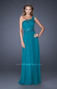 ce10842bc54d La Femme 19148 Mom Dress, Chiffon Dress, Bodice, One Shoulder, Evening  Dresses