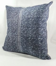 20  Throw Pillow Cover made from Hmong Indigo Batik by PolLaWatt