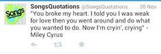 Miley cyrus song lyrics