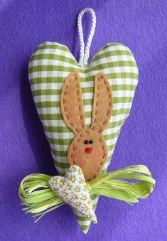coniglietto cuore verde (Tilda) | por -Rina-