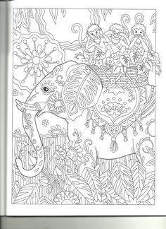 The Art of Marjorie Sarnat: Elegant Elephants Adult Coloring book Free Adult Coloring Pages, Mandala Coloring Pages, Animal Coloring Pages, Coloring Pages To Print, Coloring Book Pages, Printable Coloring Pages, Coloring For Kids, Coloring Sheets, Elephant Coloring Page