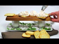 Räucherlachsmousse - YouTube Mousse, Buffet, Cheese, Ethnic Recipes, Dip, Food, Youtube, Koken, Food Food