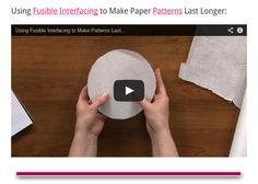 Using Fusible Interfacing to Make Paper Patterns Last Longer