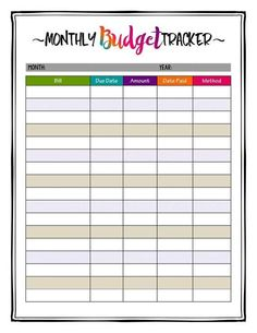 Monthly Budget Printable, Monthly Budget Planner, Printable Planner, Monthly Expenses, Planner Template, Planner Ideas, Planner Stickers, Printable Art, Free Printables