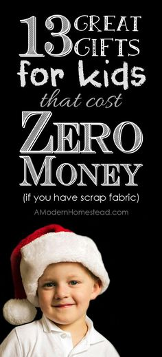 ZERO money gifts you can make FOR KIDS when you're broke! Amazing ideas, these are all items you can make from fabric scraps!