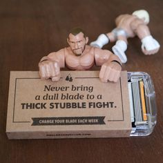 Don't get smacked down by a dull razor. Remember to change your blade this week. Dollar Shave Club, Men Stuff, Natural Skin, You Changed, Shaving, Fathers Day, Blade, Comic, Gift Ideas