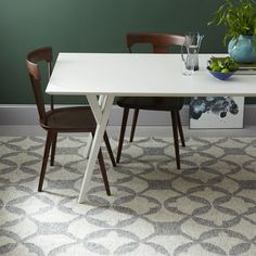 Tile Wool Kilim Rug - Platinum | West Elm