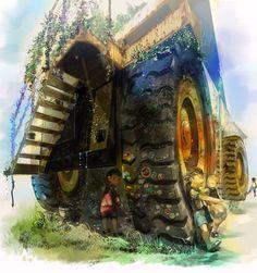 """""""humongous dump car"""" by Kingo YAMATO (amatoy on deviantart.com)"""
