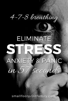 The 4 7 8 breathing technique takes the shallow, oxygen poor, carbon dioxide rich breathing you do when you are stressed out, and turns it upside down, giving you quick relief from anxiety, panic and stress. Click to learn how to do it!  #naturalhealth #naturalliving #diy #alternativemedicine #foodismedicine #herbalmedicine #breathwork #stressrelief