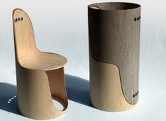 Twin Chairs: Beautiful, Stackable Bent Ply from Italy : TreeHugger