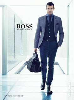 Hugo Boss - Hugo Boss BOSS Menswear F/W 13 In this picture:  Alex Lundqvist Credits for this picture:  Marc Hom (Photographer)
