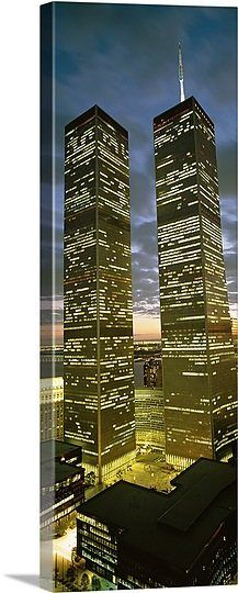 Towers viewed from a Woolworth building, World Trade Center, Lower Manhattan, Manhattan, New York City, New York State,