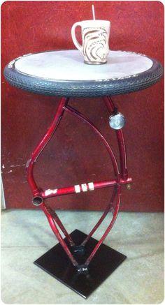 vintage bicycle frame table. vintage cocktail by elmcityvintage, $150.00