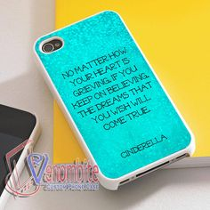 Disney Cinderella Quotes Phone Case For iPhone 4/4s Cases, iPhone 5 Cases, iPhone 5S/5C Cases, iPhone 6 cases & Samsung Galaxy S2/S3/S4/S5 Cases
