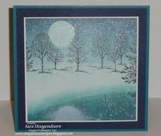 Lovely as a Tree Shimmer Snowfall reflection card by Sara Hoogendoorn.... love this!!