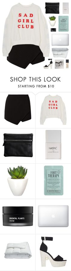 """sad girl club"" by onibugis ❤ liked on Polyvore featuring Repetto, Nails Inc., Pomax, Kocostar, Koh Gen Do, Frette, Nicholas Kirkwood and NARS Cosmetics"