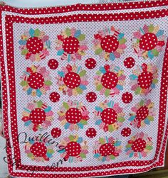 A Quilting Sheep - she used a whole cloth background for her Material Obsession cover quilt