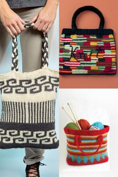 15 Stylish Bags & Totes to Knit (Free Patterns Included)