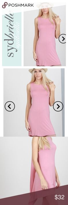 ❤️STRAWBERRY ICE DUSTY PINK TUNIC DRESS Perfect for day casual or throw on some strappy heals for a night out. This dress has a large key hole back with layers or fabrics that give a hi low look. Tunic form fitting. 60% cotton 35% polyester 5% spandex. Available S-M-L.  True to size. Poll Dresses Mini