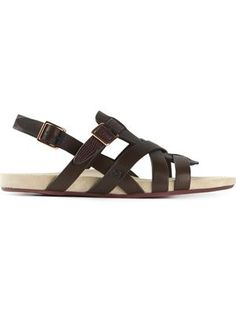 farfetch.com - a new way to shop for fashion Sandals 2014, Women Sandals, Flat Sandals, Leather Sandals, Flats, Male Fashion Trends, Designer Sandals, Huaraches, Moccasins