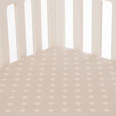 Glenna Jean Contessa Grey Dot Fitted Sheet - Free Shipping on Crib Bedding Sets
