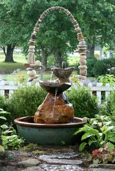 "Stone Sculpture by Carl Peverall. Recently, the Dargan Landscape Architecture firm hosted a show of new works at the opening of their space called Dovecote in Cashiers, NC. This fountain, "" In the Beginning"", was featured along with ""The Gift"" and four other new pieces."