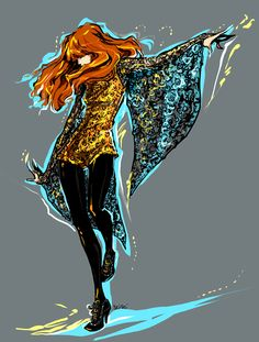 Florence and the Machine (art by seisei at Deviantart)