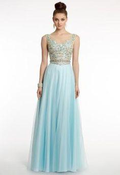 Camille La Vie Prom Dresses in pretty blue
