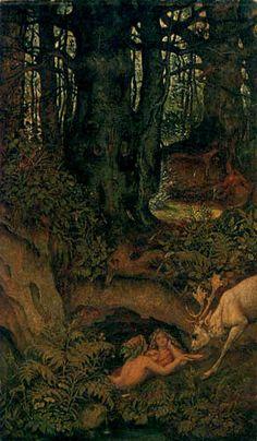 Moritz von Schwind - Nixen an der Waldquelle