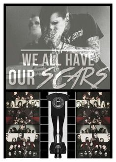 """""""We All Have Scars...Motionless In White"""" by ilovehedgehogs1029 ❤ liked on Polyvore featuring Oris, Dr. Denim, Valentino, emo, band, goth, motionlessinwhite and Joshbalz"""