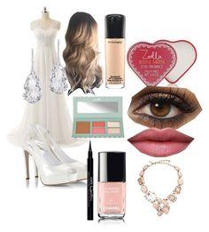 """Wedding"" by xelinax ❤ liked on Polyvore featuring Fratelli Karida, Zoella Beauty, MAC Cosmetics, Barry M, Givenchy, Plukka and Oscar de la Renta"