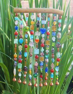 Pretty bead and Bell wind chimes