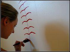 Whimsical Words: A Baseball Wall