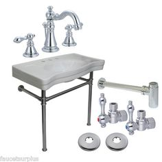 What a nice bathroom open sink package!  This is going to look great on my next project.