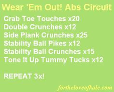Wear 'Em Out Abs Circuit