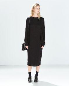 $40 - layered under a jacket or vest  OVERSIZE RIBBED DRESS from Zara