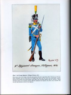 Foreign Troops: Plate 7: 2nd Foreign Regiment, Voltigeur Private, 1812.